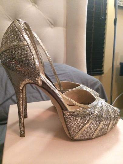 Jimmy Choo Jimmy Choo Bridal Collection Champagne Glitter Platform Wedding Shoes