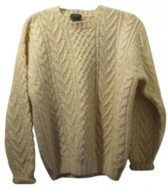 Preload https://item1.tradesy.com/images/jcrew-ivory-fisherman-cable-knit-sweaterpullover-size-12-l-14315-0-0.jpg?width=400&height=650