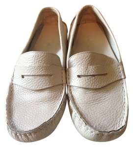 Brooks Brothers Driving Moccasin Loafer Leather Beige Flats