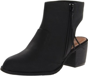 Michael Antonio Cut-out Ankle Leather Closed-toe Black Boots