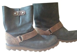 Sorrelli Winter Leather Motorcycle Brown Boots