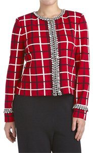 St. John #181463 Red, Black, White Blazer
