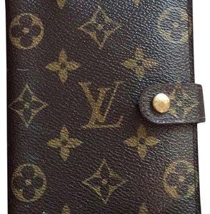 Louis Vuitton Louis Vuitton Monogram Canvas Small Ring Agenda Cover w/ LV Stickers