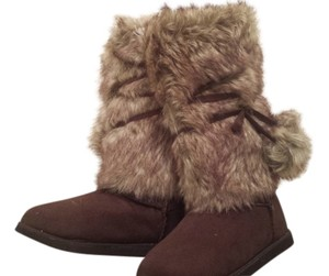 Old Navy Brown Faux Suede Boots
