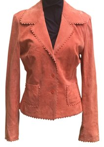 Karen Kane Suede Salmon, Coral Leather Jacket