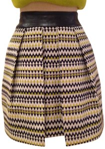 MILLY Mini Skirt Green multi