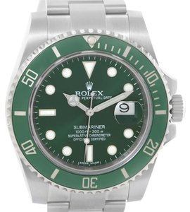 Rolex Rolex Submariner Green Dial Ceramic Bezel Watch 116610LV Box Papers