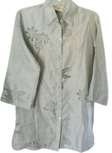 Tommy Bahama See Thru Pattern Top NWT LIGHT TURQUOISE
