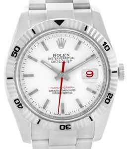 Rolex Rolex Thunderbird Turnograph White Dial Mens Watch 116264