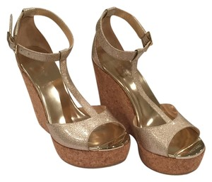 Jimmy Choo Wedge gold metallic Wedges