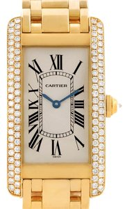 Cartier Cartier Tank Americaine Midsize 18K Yellow Gold Diamond Watch WB7015K2
