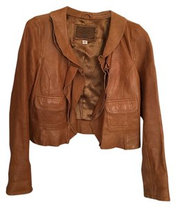 Old Navy Camel Leather Jacket