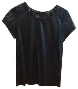 Generation Love Top Black Faux Leather