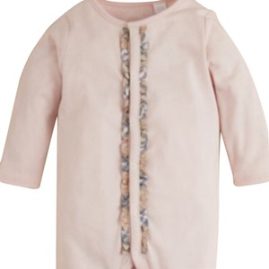 Burberry Burberry Infant Girls' Signature Check Trim Footie Size 9 Months