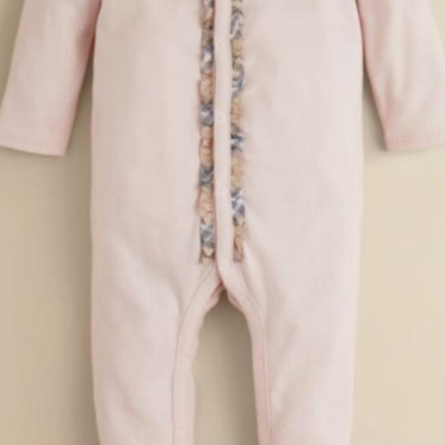 Burberry Burberry Infant Girls' Signature Check Trim Footie Size 9 Months Image 4