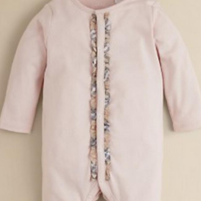 Burberry Burberry Infant Girls' Signature Check Trim Footie Size 9 Months Image 7