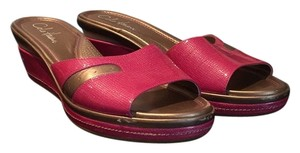 Cole Haan Fushia and silver Sandals