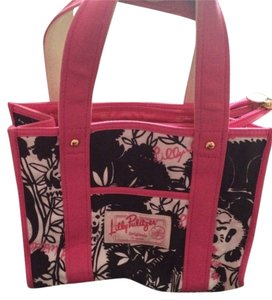 Lilly Pulitzer Tote in Black pink white