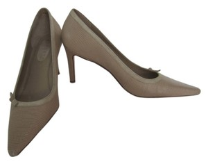 Lauren by Ralph Lauren Pointed Toe Stiletto Lizard tan Pumps