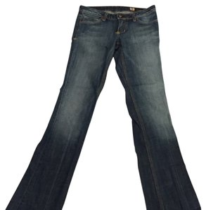 People's Liberation Bella Gold Lurex Boot Cut Jeans-Medium Wash