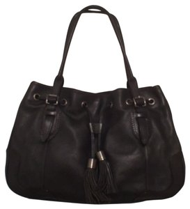 Antonio Melani Leather Tote Satchel in Black
