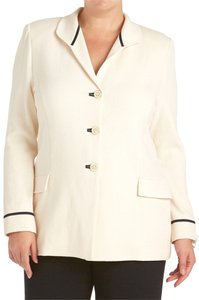 St. John #181380 Cream, Black Blazer