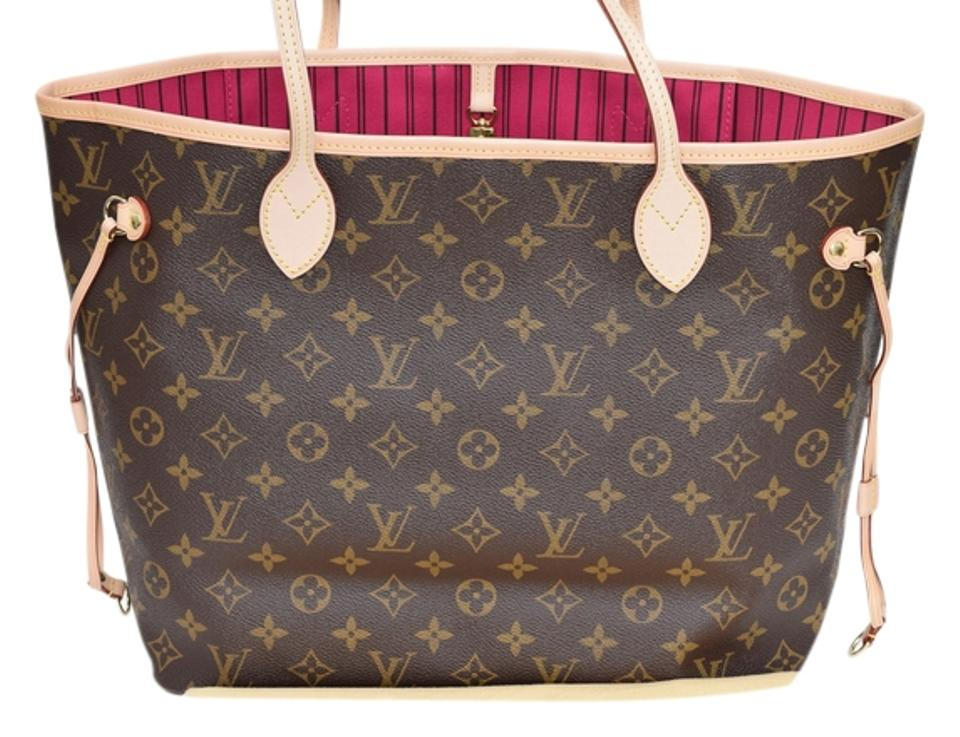 31a84445b550 Louis Vuitton Neverfull Mm Tote in Monogram with Pivoine (Pink) Lining  Image 0 ...