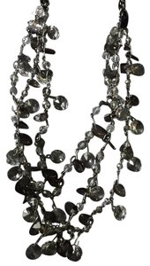 Simply Vera Vera Wang 3 Chain Woven Ribbon Multi-Bead Necklace
