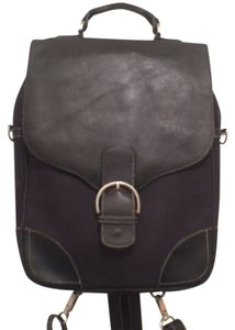 Kenneth Cole Leather Canvas Backpack