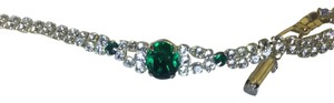 Emerald rhinestone and clear sparkling rhinestone SP LINO Emerald And Swarovski Rhinestones Bracelet