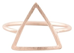 New Size 6, Triangle Ring in Rose Gold