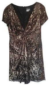 Jovani Sequin Festive Deep V Short Sleeve Dress