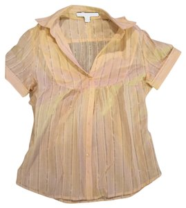 Express Button Down Shirt Peach