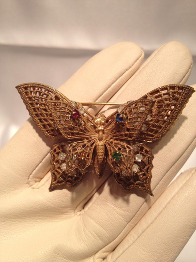 Miriam Haskell Miriam Haskell Butterfly Pin - [ Roxanne Anjou Closet ]