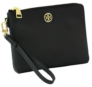 Tory Burch Roslyn Wristlet Black Clutch