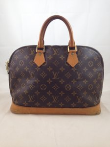 Louis Vuitton Alma Monogram Vintage Leather Brown Iconic Satchel in Brown/Tan