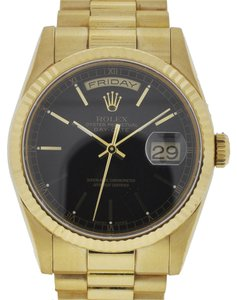 Rolex Rolex Day-Date President 118238 Black Stick Dial Yellow Gold Watch