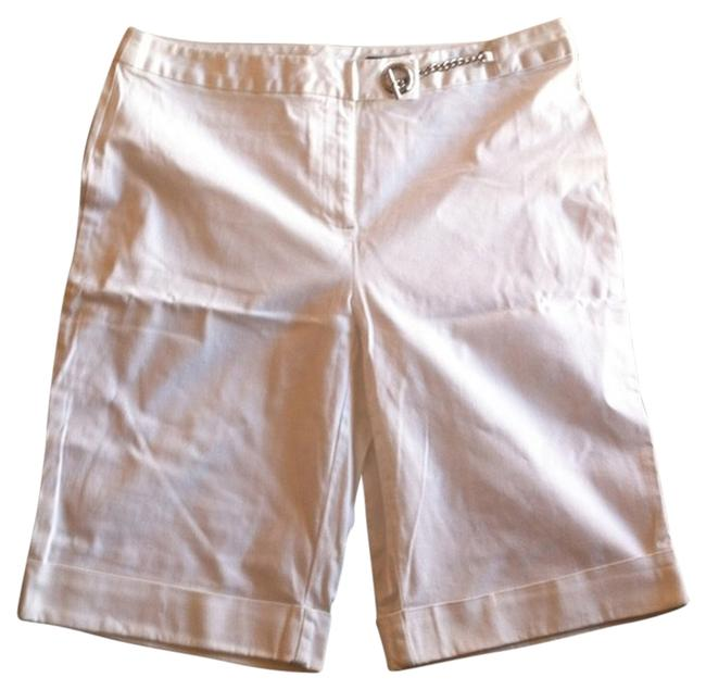 Jones Wear Studio Sailor Nautical Bermuda Shorts White