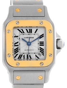 Cartier Cartier Santos Small Steel 18K Yellow Gold Date Watch W20057C4