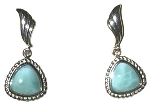 CARIBBEAN JEWELER HANGING LARAMAR STUD EARRINGS WITH SILVER TRIM