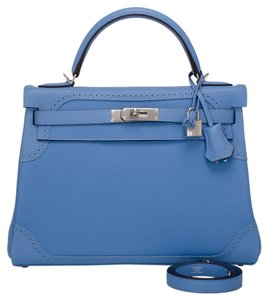 Hermès Kelly 32cm Blue Paradise Shoulder Bag