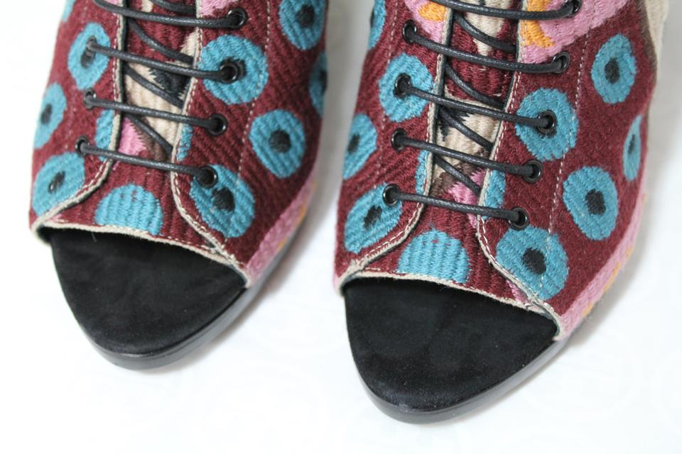 2c6ab9f077c Burberry Wedges Tapestry Prorsum Multicolor Boots Image 11. 123456789101112