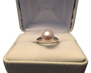 jcp Silver Ring with Pink Pearl