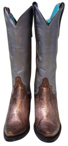 Lane Boots Silver and copper- metallic Boots