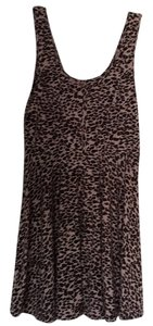 Free People short dress Pink with animal print on Tradesy