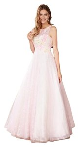 MADISON JAMES Lace Ball Gown Prom Floral Dress