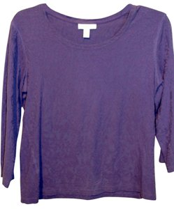 Charter Club Textured Stretch T Shirt Purple