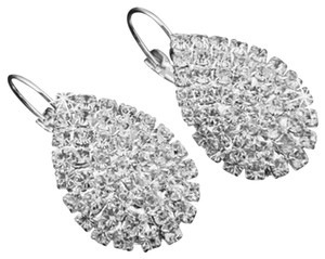 Rhinestone Sparkly Silver Plated Earrings