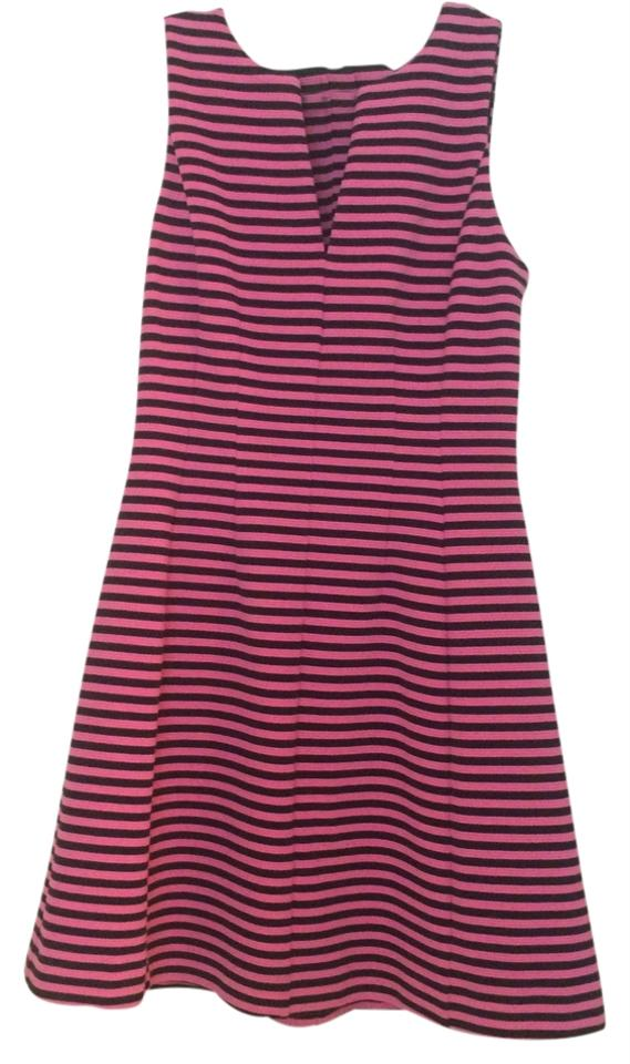 Lilly Pulitzer Pink and Navy Above Knee Cocktail Dress Size 4 (S ...