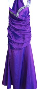 Cindy Collection Taffeta Prom Fit And Flare Rhinestones Dress